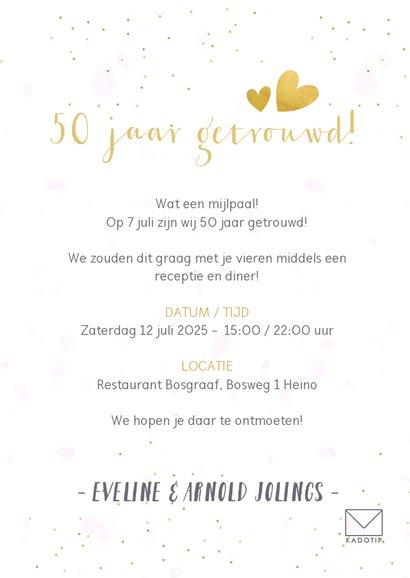 Huwelijksjubileum fotocollage uitnodiging met 3 foto's 3