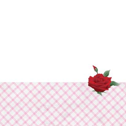 Huwelijksjubileum fotolijstjes rozen lief  3