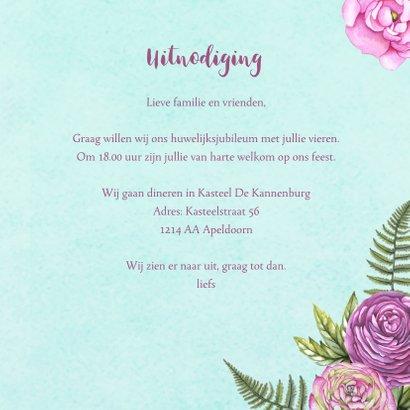 huwelijksjubileum hart rozen 3