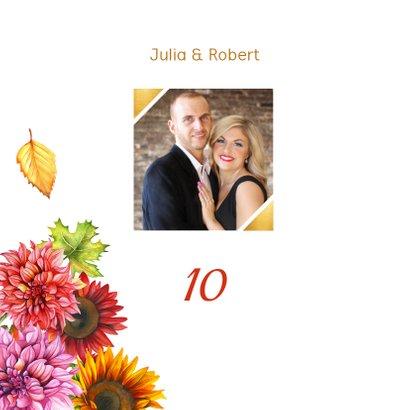 Huwelijksjubileum herfstbloemen 2