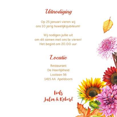 Huwelijksjubileum herfstbloemen 3