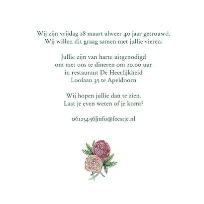 Huwelijksjubileum ranonkels 3