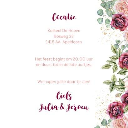 Huwelijksjubileum rozen bordeaux 3