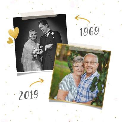 Huwelijksjubileum uitnodiging fotocollage 50 jaar getrouwd 2