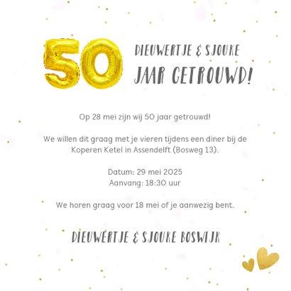 Huwelijksjubileum uitnodiging fotocollage 50 jaar getrouwd 3