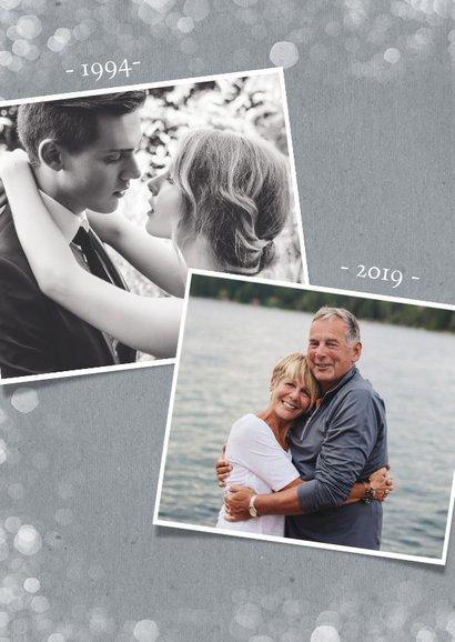 Huwelijksjubileum uitnodiging zilveren huwelijk 25 jaar 2