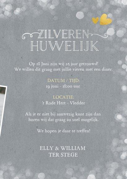 Huwelijksjubileum uitnodiging zilveren huwelijk 25 jaar 3
