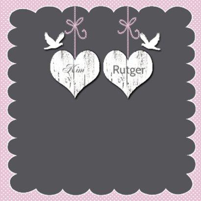 huwelijksjubileum witte harten tak 2