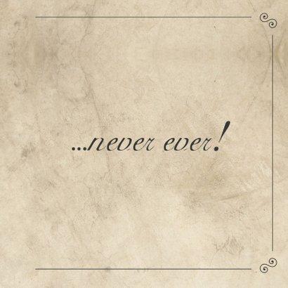 I'll never let you go... - BK 3