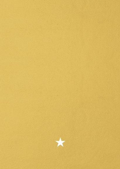 Internationale zakelijke kerstkaart met kerstbomen kader Achterkant