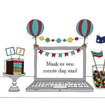 Jarig laptop kleurig - HR 2