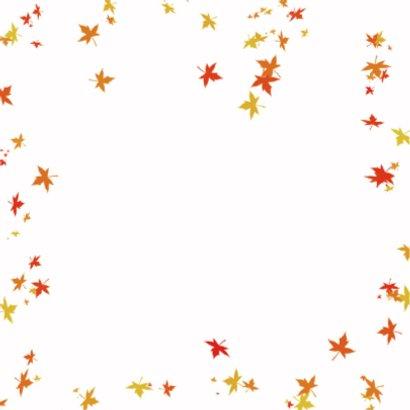 Jarig met herfstbladeren 2