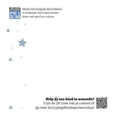Jeugdfonds Sport & Cultuur Kerstkaart Sneeuwpop 2
