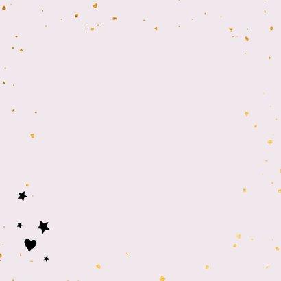 Joy to the world - zwart en goud - kerstkaart Achterkant