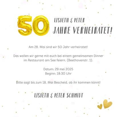 Jubiläumskarte Fotocollage Goldene Hochzeit 3