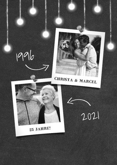 Jubiläumskarte Hochzeitstag Kreidetafel mit Fotos 2