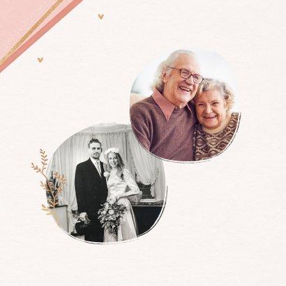 Jubiläumskarte Hochzeitstag mit goldenem Kranz 2