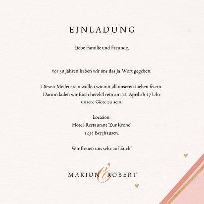 Jubiläumskarte Hochzeitstag mit goldenem Kranz 3