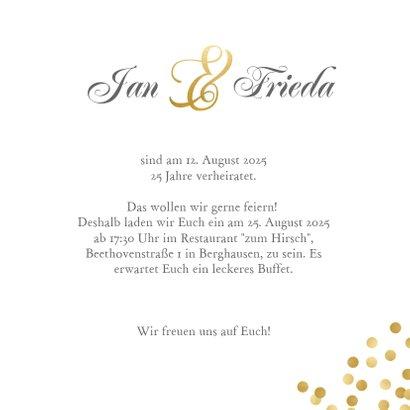 Jubiläumskarte mit Foto zum 25. Hochzeitstag 3
