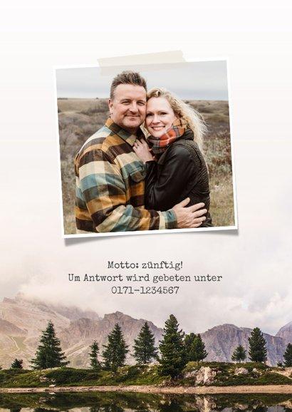 Jubiläumskarte zum Hochzeitstag Bergwelt 2