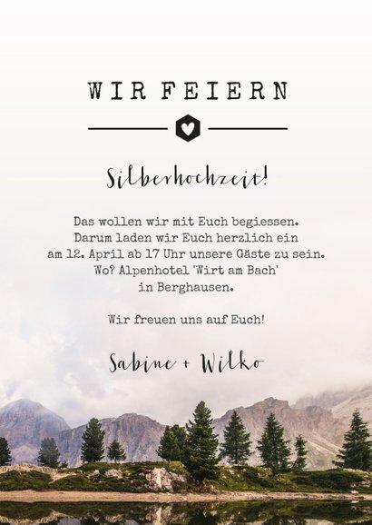 Jubiläumskarte zum Hochzeitstag Bergwelt 3