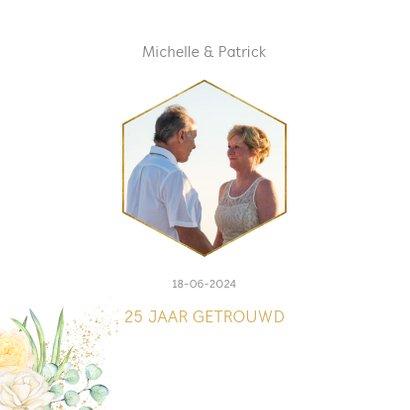 Jubileum 25 jaar rozen gouden hart 2