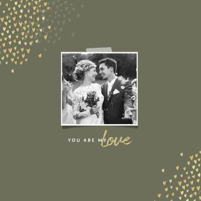 Jubileum 30 jaar uitnodiging goud hartjes 2