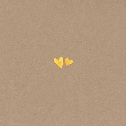 Jubileum 50 gouden hartjes Achterkant