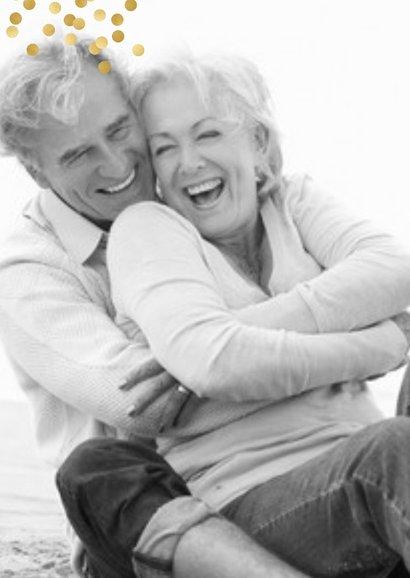 Jubileum 50 jaar getrouwd vroeger en nu 2