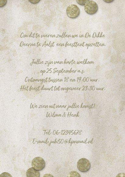 Jubileum 50 jaar goud confetti 3