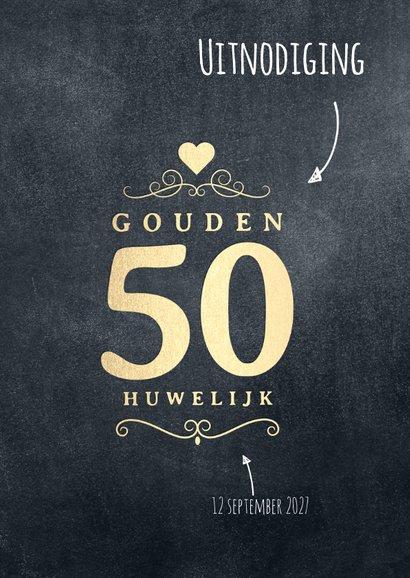 Jubileum 50 jaar huwelijk label 2