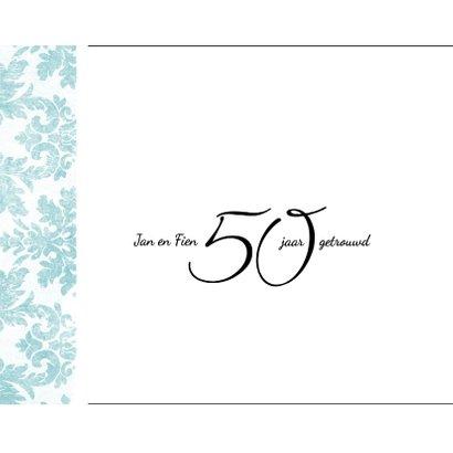 Jubileum, 50 jaar huwelijk, met retro bloemenbehang 2