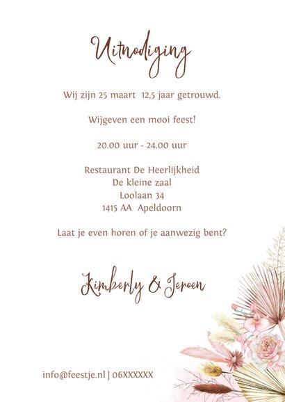 Jubileum hippe droogbloemen  3