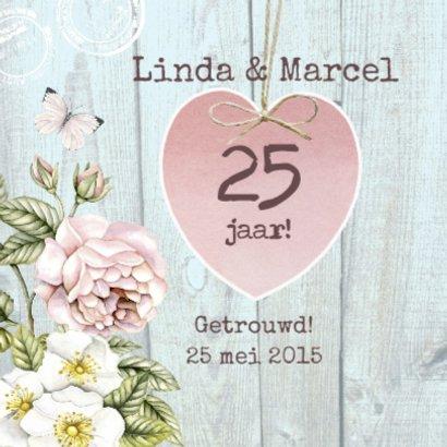 jubileum huwelijk hart bloemen 2