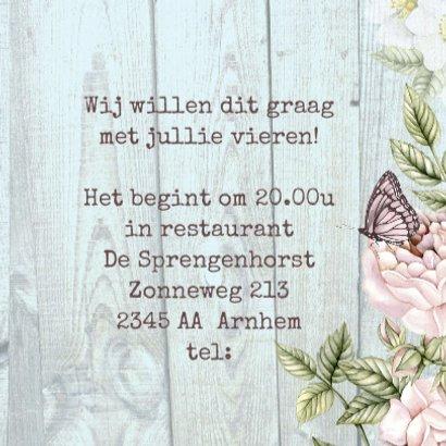 jubileum huwelijk hart bloemen 3
