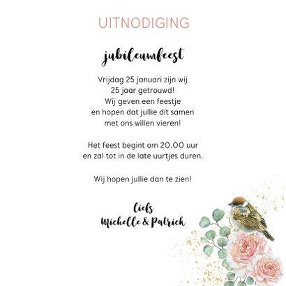 Jubileum huwelijk rozen botanical 3