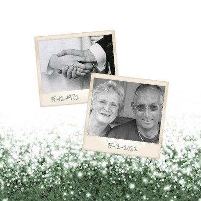 Jubileum huwelijk samen glitter blauw met foto 2