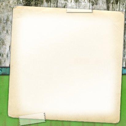 jubileum kaart feest hout groen stempel 3