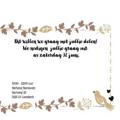 Jubileum tortelduifjes 25 jarig uitnodiging 3