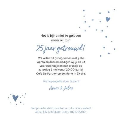 Jubileum uitnodiging 25 jaar gelukkig met elkaar 3