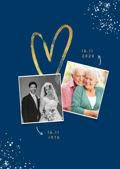 Jubileum uitnodiging 50 jaar goud hart foto's spetters 2