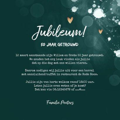 Jubileum uitnodiging 50 jaar spetters gouden hartjes 3