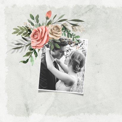 Jubileum uitnodiging bloemen vintage klassiek foto 2