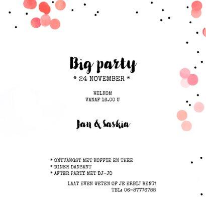 Jubileum uitnodiging confetti feest 3