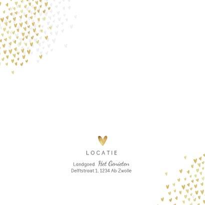 Jubileum uitnodiging goud hartjes stijlvol foto's 2