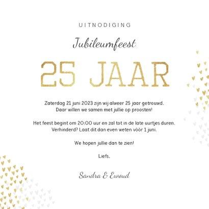 Jubileum uitnodiging goud hartjes stijlvol foto's 3