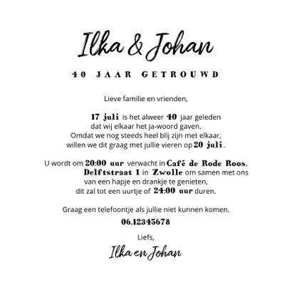 Jubileum uitnodiging kraftpapier met eigen foto's 3