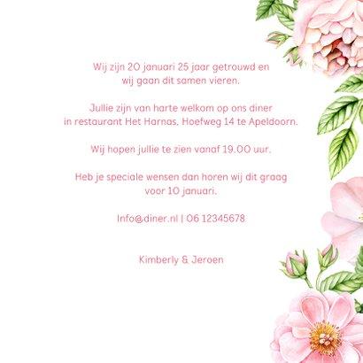 jubileum uitnodiging rozen 3