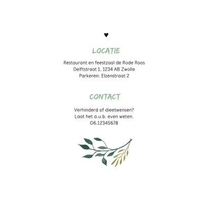 Jubileum uitnodiging stijlvol botanisch met hart 2