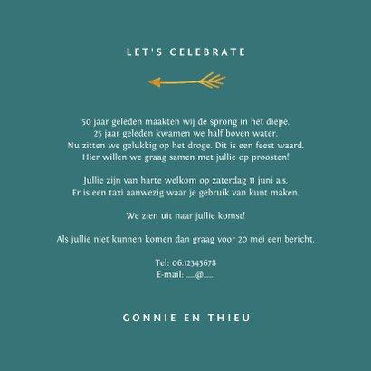 Jubileum uitnodiging stijlvol met gouden typografie 3